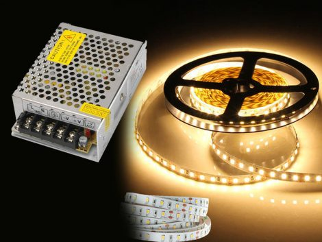 LED strip and adaptor